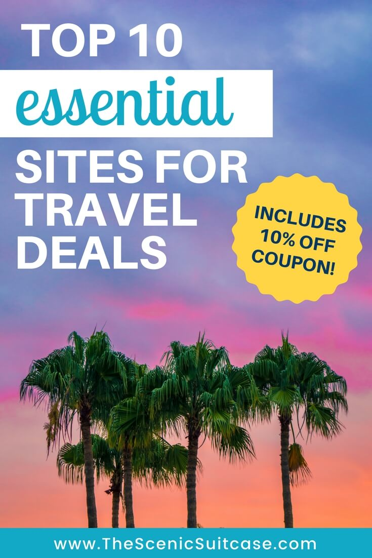 Best sites for travel deals the scenic suitcase for Best travel discount websites