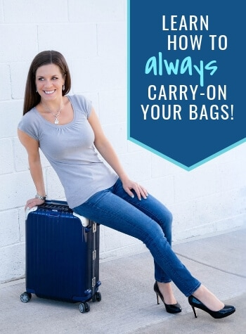 How to always carry on your luggage.  And for more travel tips and wanderlust inspiration follow The Scenic Suitcase on Pinterest!